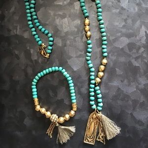Turquoise and brass statement set! Silpada KR
